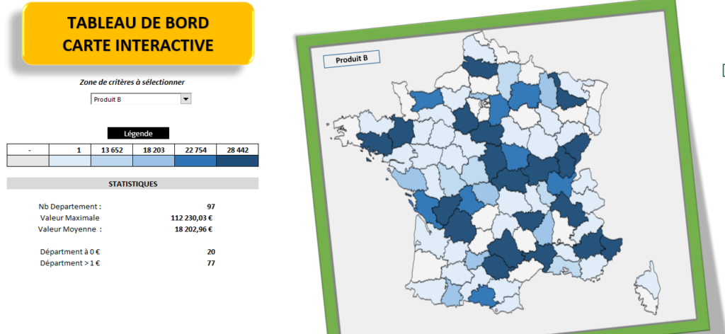 Tableau de Bord Carte Interactive
